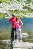 Amis sur la montagne Pirin Image stock