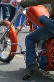 Amis sur la moto Photo libre de droits