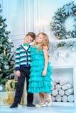 Amis sur Noël Images stock