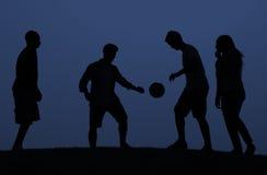 Amis Team Active Sport Concept du football Photos libres de droits