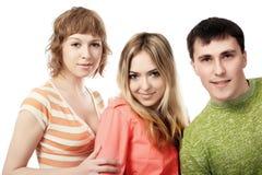 amis trois Images libres de droits
