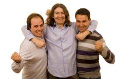 amis trois d'affaires Photographie stock libre de droits