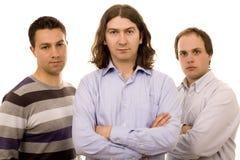 amis trois d'affaires Images stock