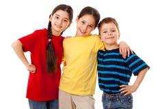 Amis - trois enfants ensemble Photographie stock libre de droits