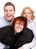 amis trois heureux Image libre de droits
