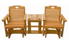 Amische handgemachte Möbel im Freien stockbild