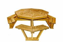 Amische handgemachte Möbel im Freien stockbilder