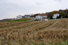 Amish. Farm in Ohio, in the Fall Stock Photography