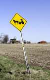 Amish Area. A higway sign in Nelliston, New York, warning of slow moving Amish horse and buggies Royalty Free Stock Image