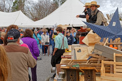 Amish Auctioneers Sell Items at Annual Mud Sale Royalty Free Stock Images
