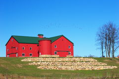 Amish Barn 2. Newly built and landscaped Amish barn stock photography
