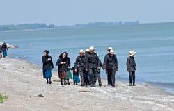 Amish Bird Watchers stock photos