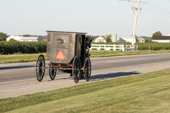 amish buggy arkivbild