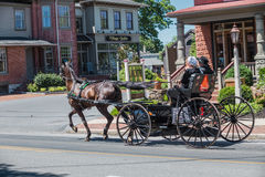 Amish Buggy Used for Transportation Stock Photo