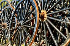 Amish buggy wheels Royalty Free Stock Photo