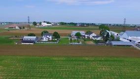 Amish bygd och amish brukar med surret lager videofilmer