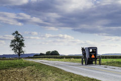 Amish Carriage. Along a country road in Lancaster, Pennsylvania Stock Image