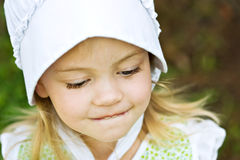 Amish Child. Bashful Amish child Stock Image