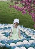 Amish child stock image