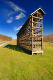 Amish corn crib. Shot in the late fall in Northeast Ohio Amish farmland Stock Images