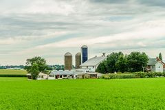 Amish country farm barn field agriculture in Lancaster, PA Stock Photos