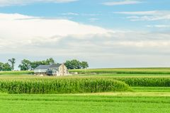 Amish country farm barn field agriculture in Lancaster, PA Stock Images