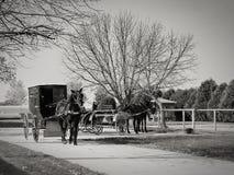 Amish eftermiddag arkivbilder