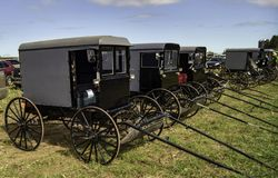 Amish faller gyttja Sale 4 arkivfoto