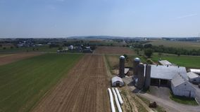 Amish Farm Lands from Above 2 stock images