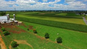 Amish Farm Lands from Above 7 royalty free stock images