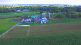 Amish Farm Lands from Above 18 royalty free stock photography
