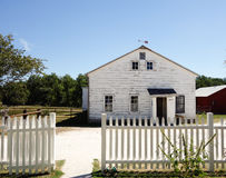 Amish farmhouse in the Midwest. This photo of a white Amish farmhouse was taken in Clarke, Missouri Stock Photos