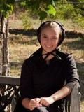 Amish flicka Arkivbilder