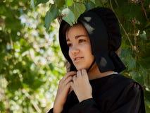 Amish flicka Arkivfoto