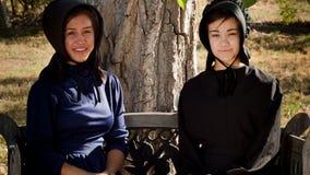 Amish flickor Fotografering för Bildbyråer