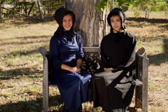 Amish Girls Royalty Free Stock Images