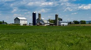 amish gospodarstwa rolnego krajobraz obraz royalty free