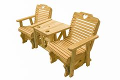 Amish hand made outdoor furniture stock photography