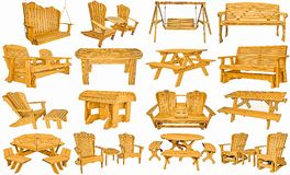Amish hand made outdoor furniture stock image