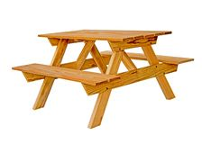 Amish hand made outdoor furniture royalty free stock photos