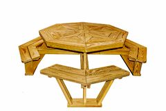Amish hand made outdoor furniture stock images