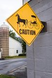 Amish Horse and Buggy Sign Royalty Free Stock Photos