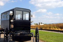 Amish horse-drawn buggy Stock Photos