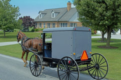 Amish Horse-drawn Carriage Stock Photos