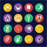Amish Icons Flat Design Circle Stock Photography