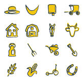 Amish Icons Freehand 2 Color Royalty Free Stock Image