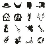 Amish Icons Freehand Fill Royalty Free Stock Photography