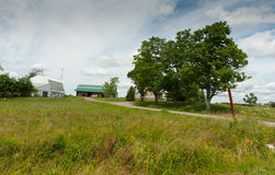 Amish landscape. Amish farmland in Aroostook Maine Stock Photography
