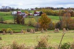 Amish landssida Arkivbilder