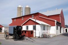 Amish lantgård arkivbild
